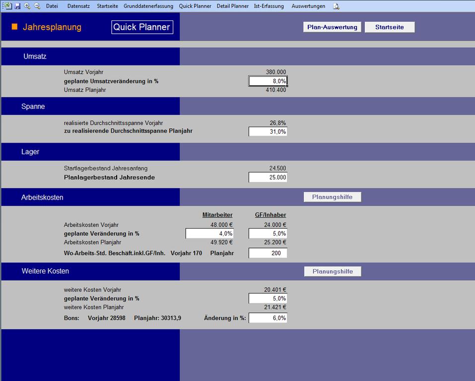 ContRate_C ermöglicht eine unkomplizierte und schnelle Planung
