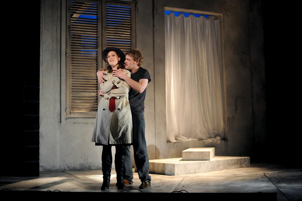 Don Giovanni (Leporello) Zwickau 2010 Foto Peter Awtukowitsch; mit Juliane Schenk