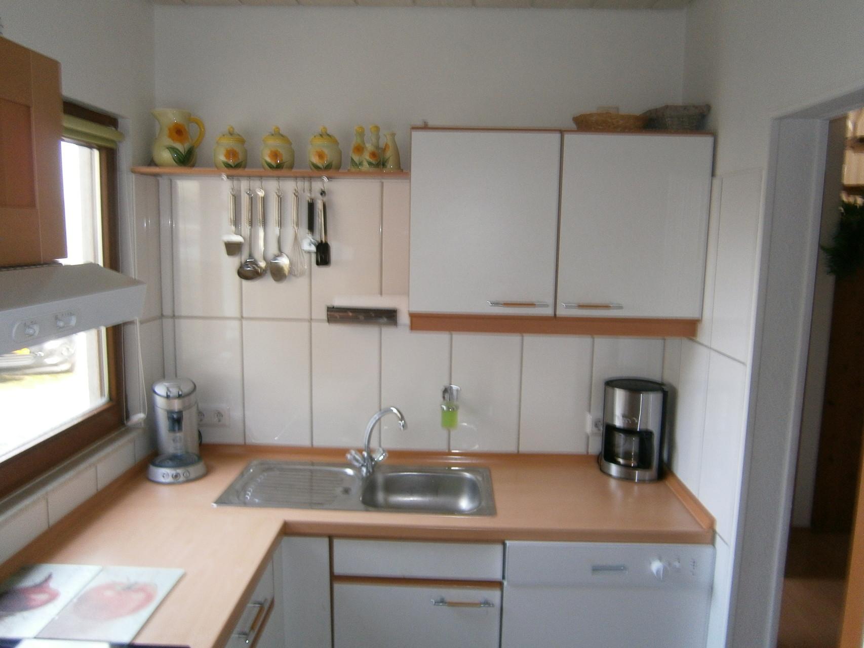 Küche auf der rechten Seite