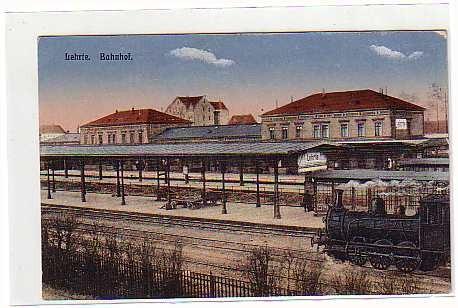 Historische Postkarte vom Bahnhof Lehrte