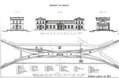 Der Bahnhof Lehrte im Jahr 1843