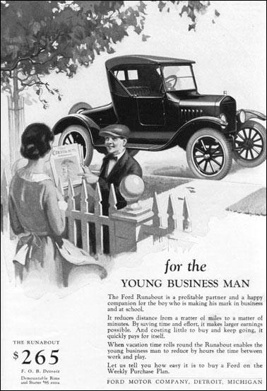 Ford legte schon früh großen Wert auf Werbung