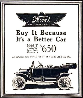 Ein Modell T entsprach etwa drei Monatslöhnen eines Fließbandarbeiters bei Ford.