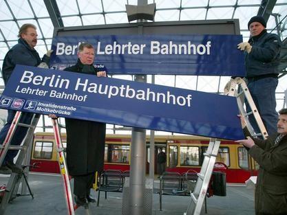 Über den Namen des neuen Berliner Hauptbahnhofs wurde lange diskutiert.