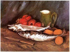 Stillleben von Vincent van Gogh mit Makrelen, Zitronen und Tomaten aus dem Jahr 1886
