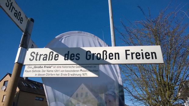 """""""Straße des Großen Freien"""" in Sehnde"""