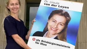 Ursula von der Leyen bewirbt sich 2001 als Ortsbürgermeisterin für Sehnde-Ilten