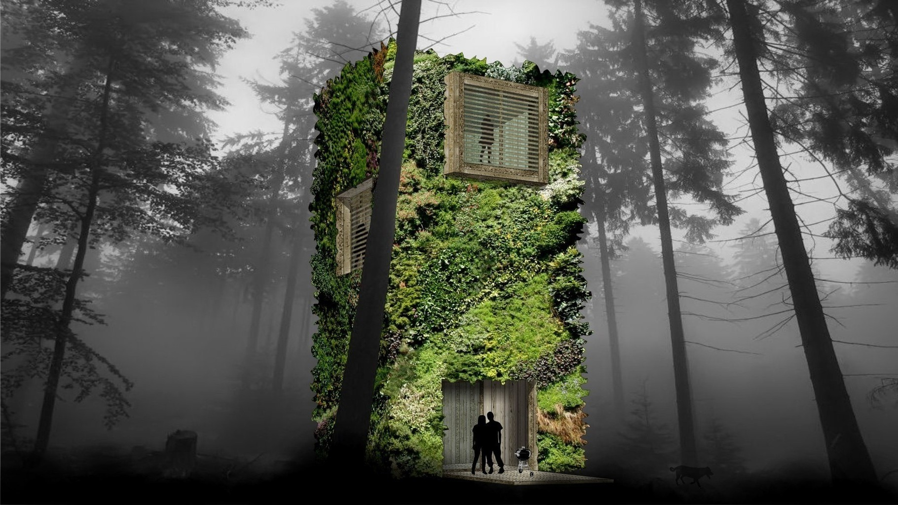 "Visual OAS1S™: ""Treetowers"" where nature and architecture totally become 1."