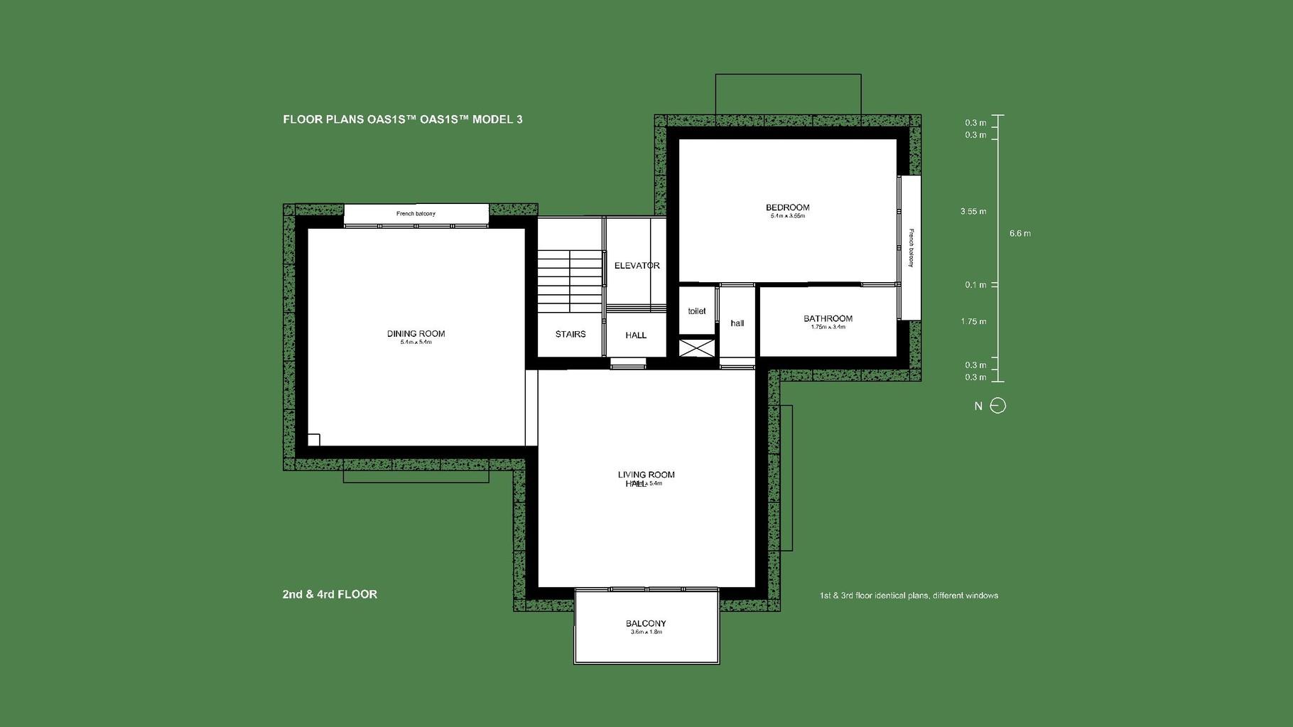 Visua OAS1S™: Model 3 for multi-family housing.