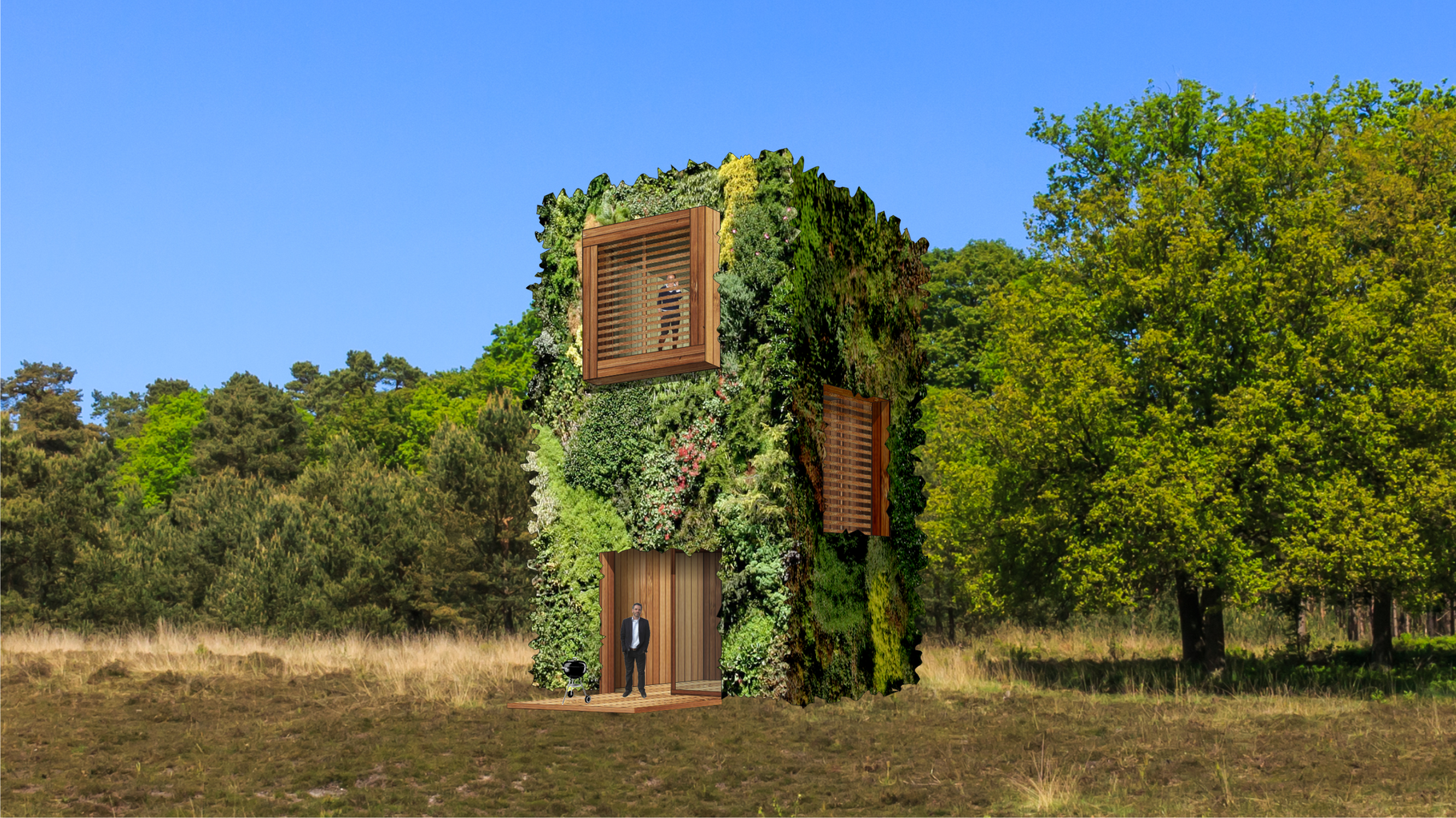 Visual OAS1S™:  An ideal tiny house, hotel suite, or B&B unit (model 5).
