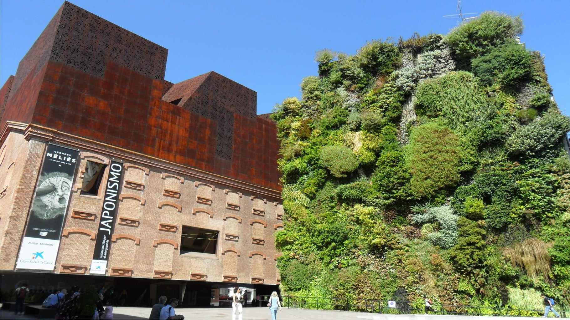 "Reference OAS1S™: A ""vertical garden"" by Patrick Blanc at the Caixa Forum in Madrid."