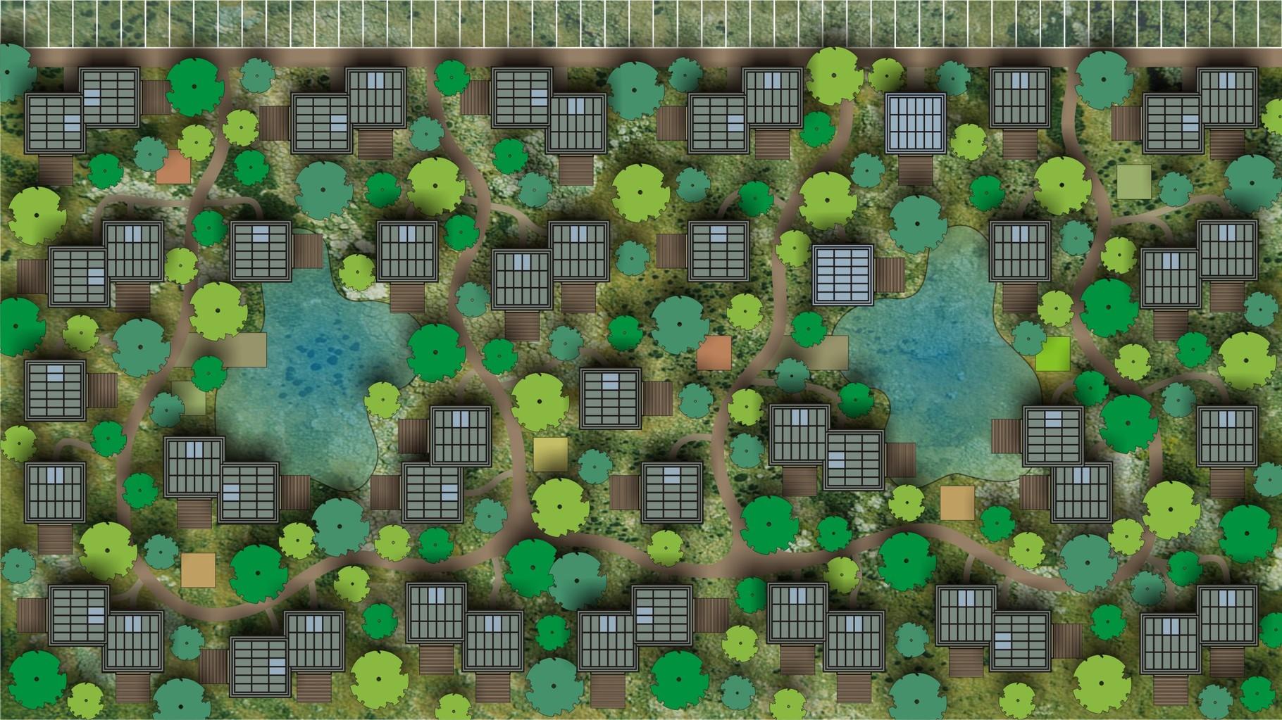 Visual OAS1S™: High-density 100% green & car-free urban design with integrated urban farming (& CLT).