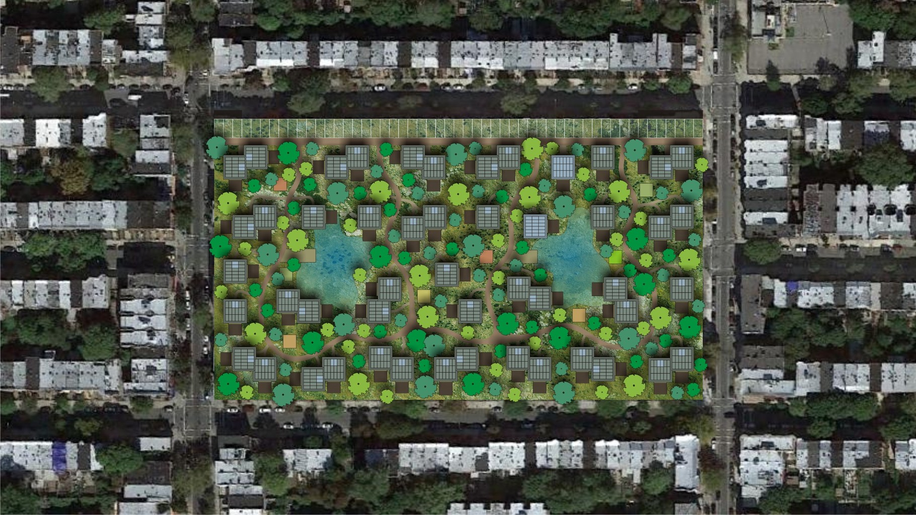 Visualisation OAS1S™: A desirable green community as an urban oasis in the concrete jungle.
