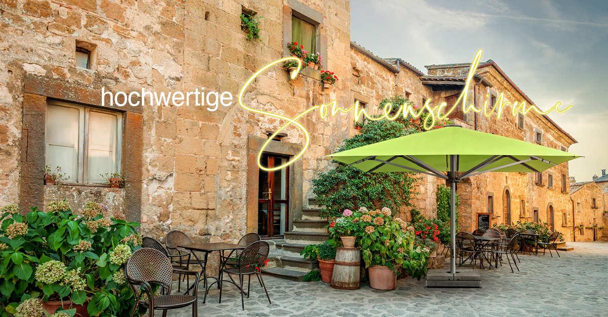 Hochwertige Sonnenschirme für Terrasse, Balkon und Garten