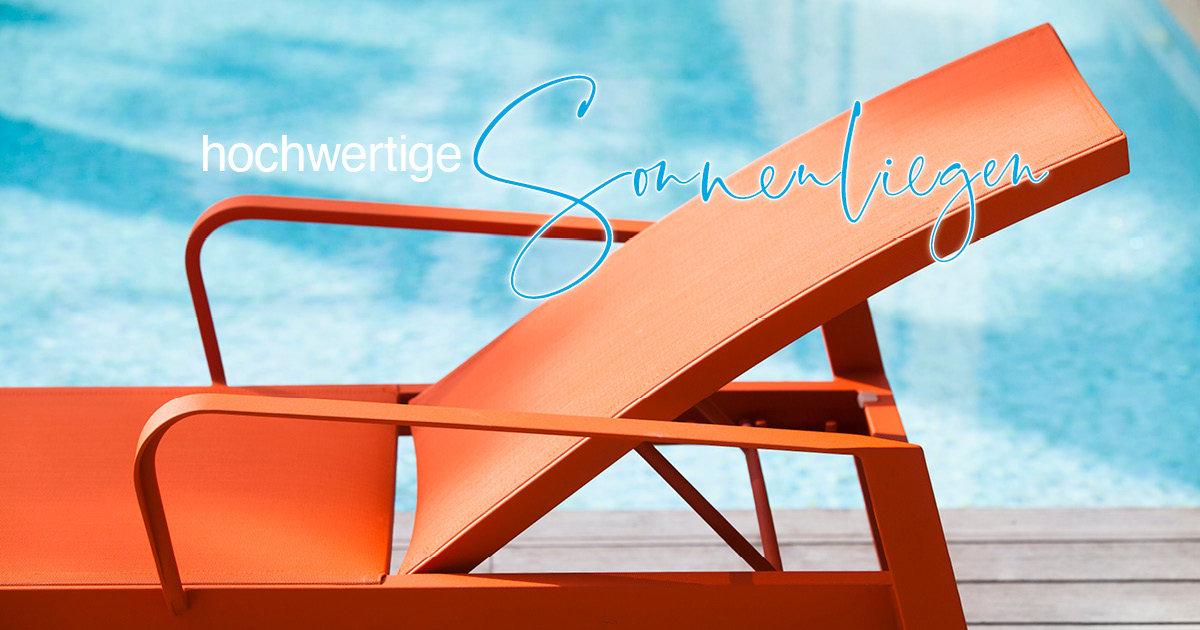 Bequeme und stylische Sonnenliegen für Balkon, Terrasse und Garten