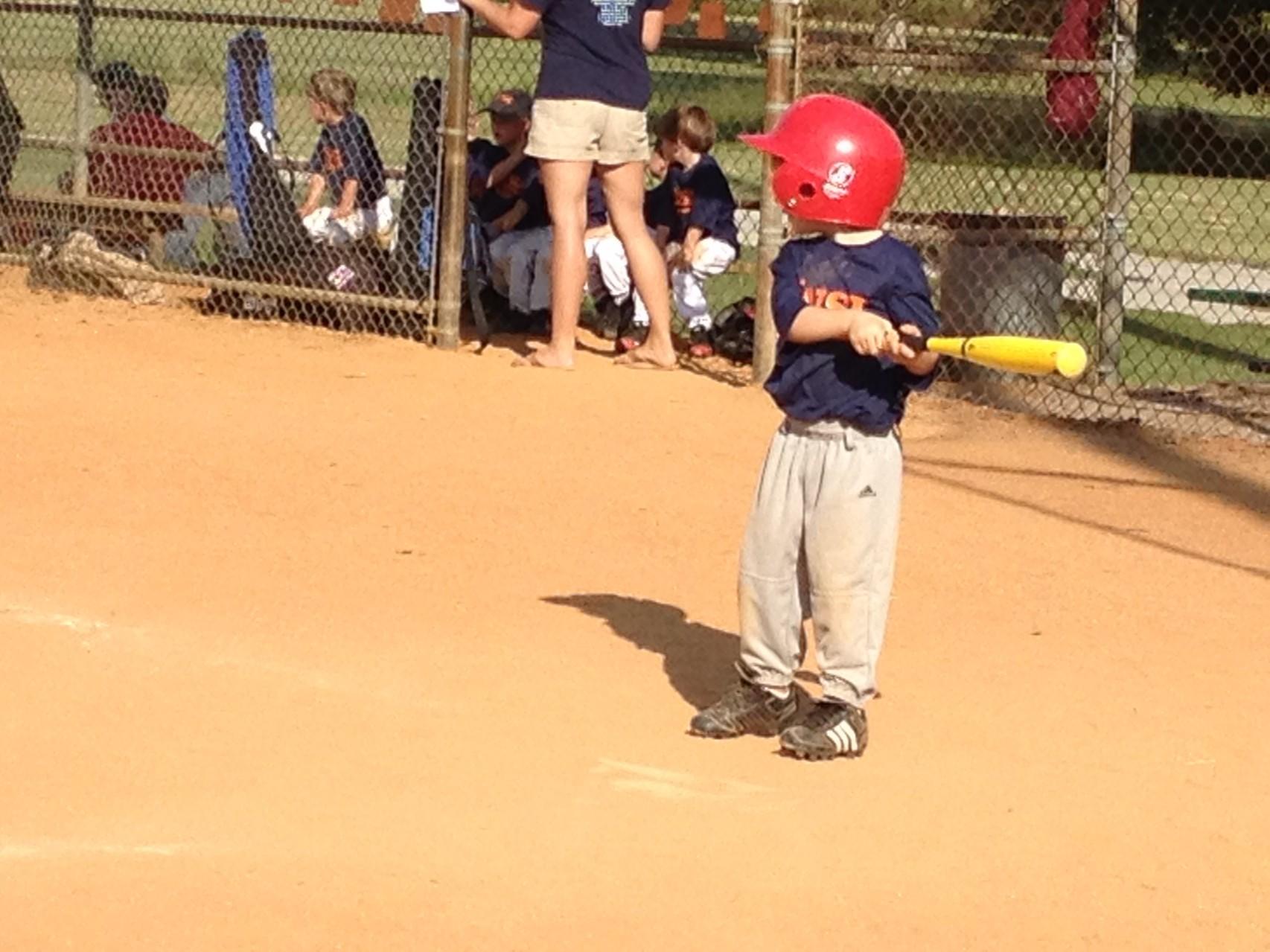 kleiner Baseballspieler