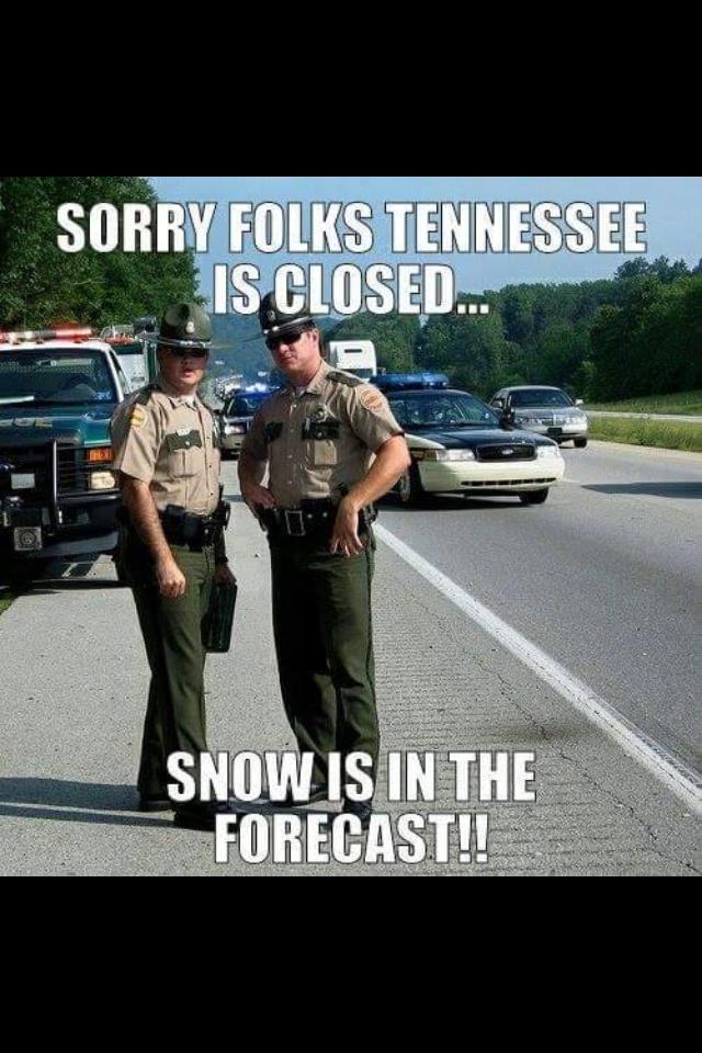Schnee und Eis in Tennessee