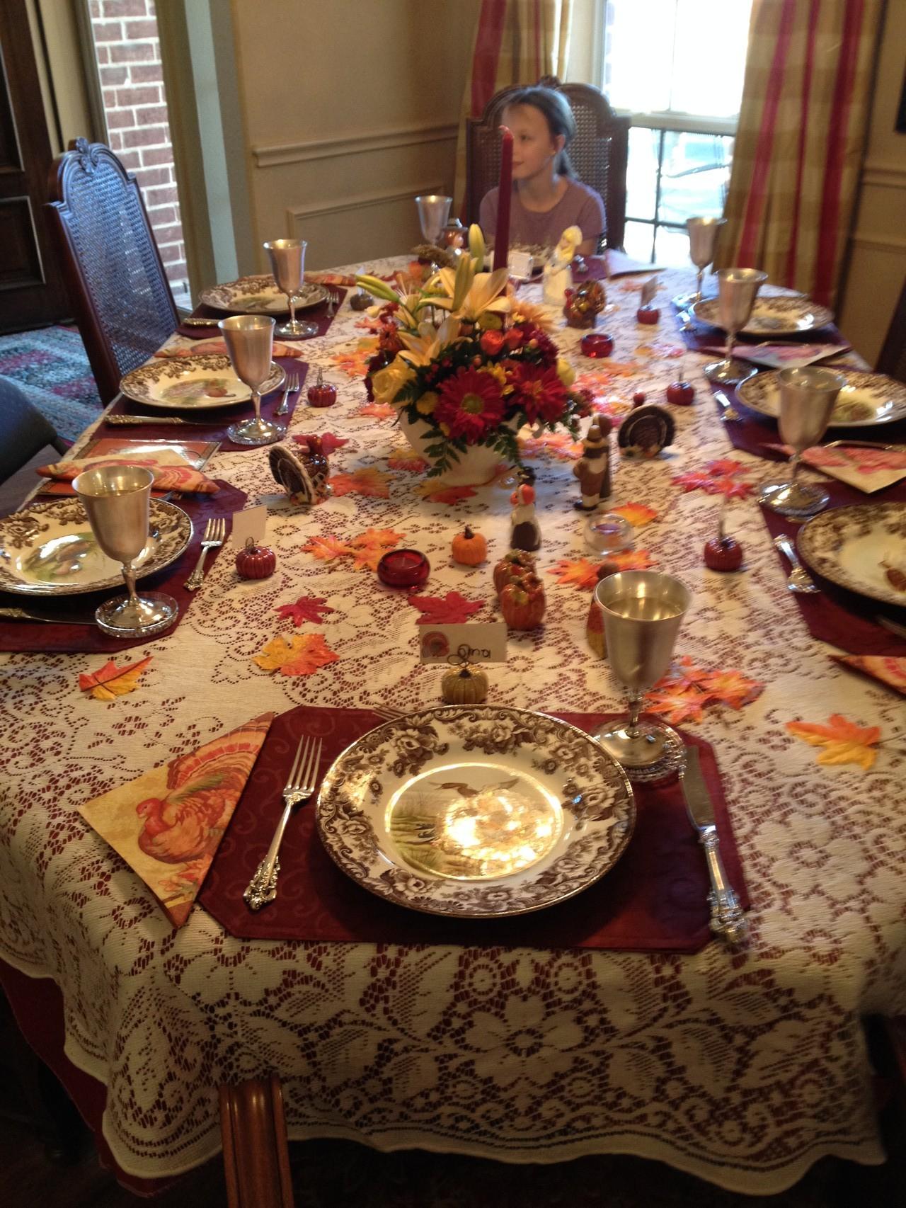 Thanksgiving Tisch schön geschmückt