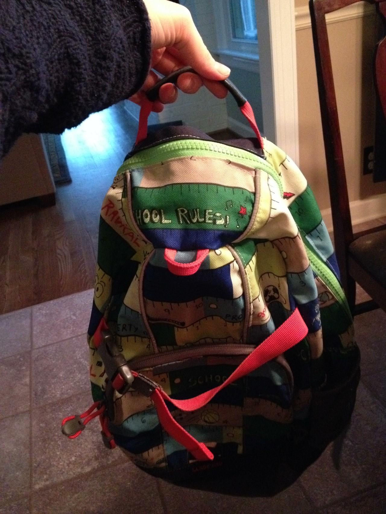 neuen Reißverschluss in den Rucksack genäht