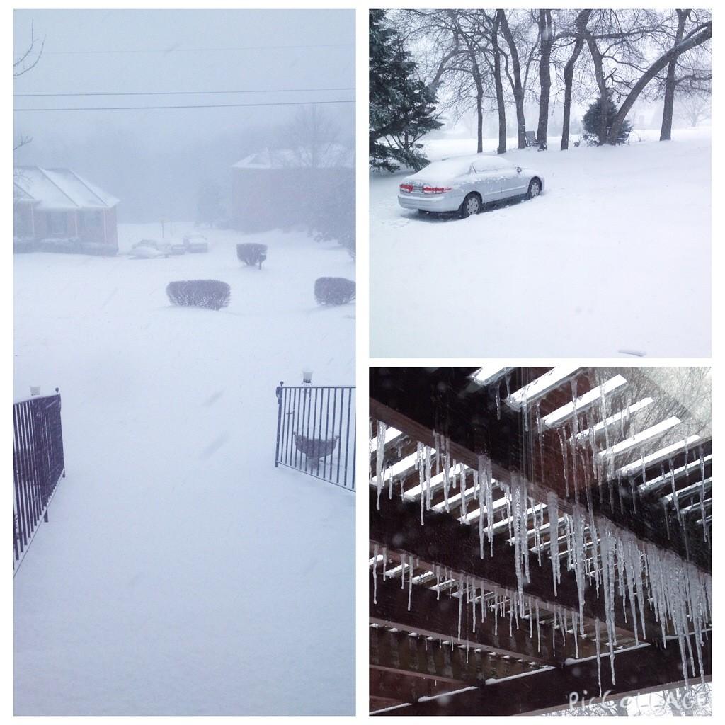 Schneestürme sogar hier!