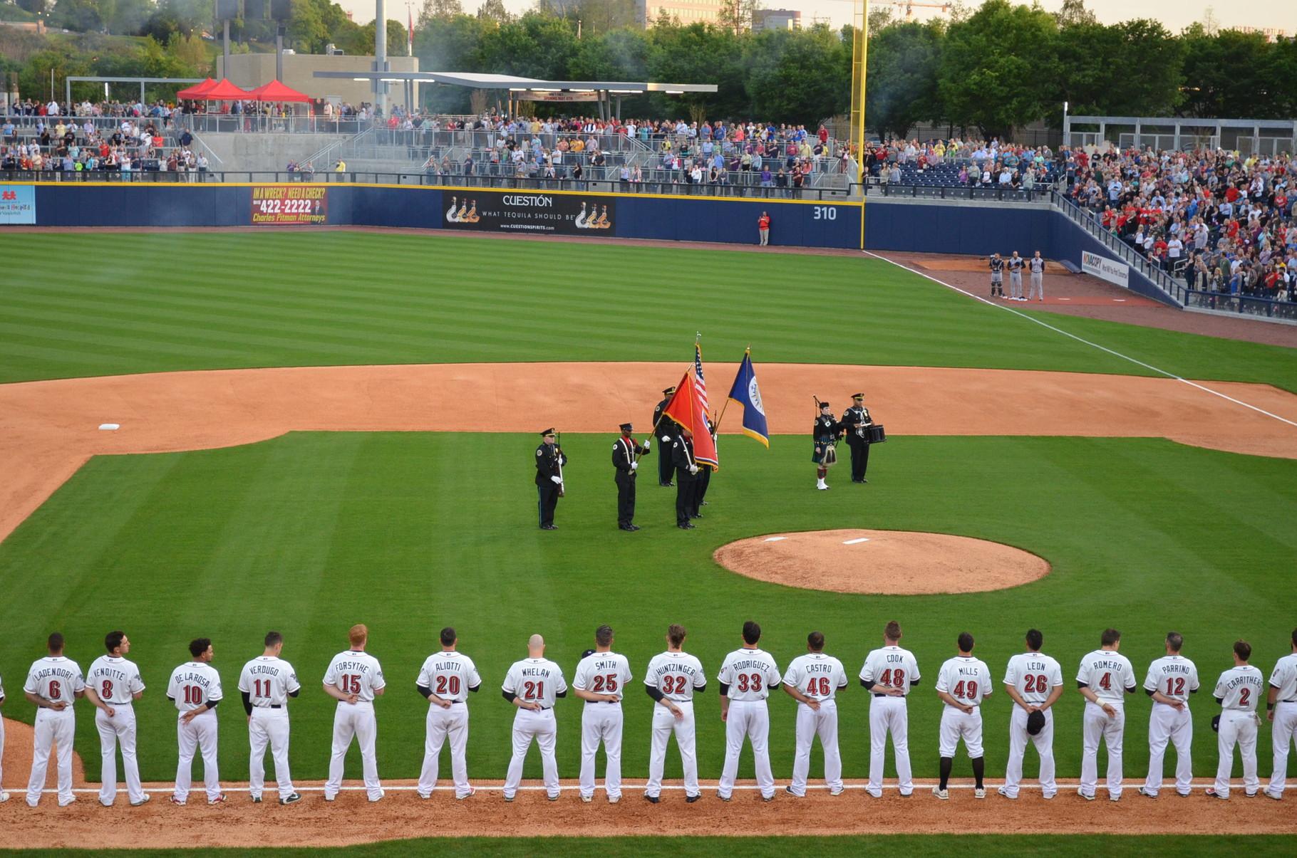 National Anthem vor dem Spiel