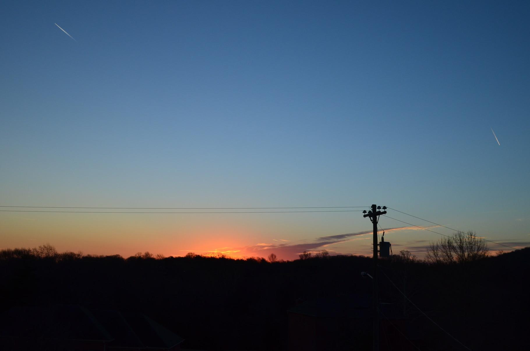 Sonnenaufgang von meinem Fenster aus