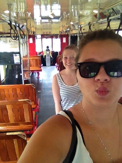 und wir im Streetcar