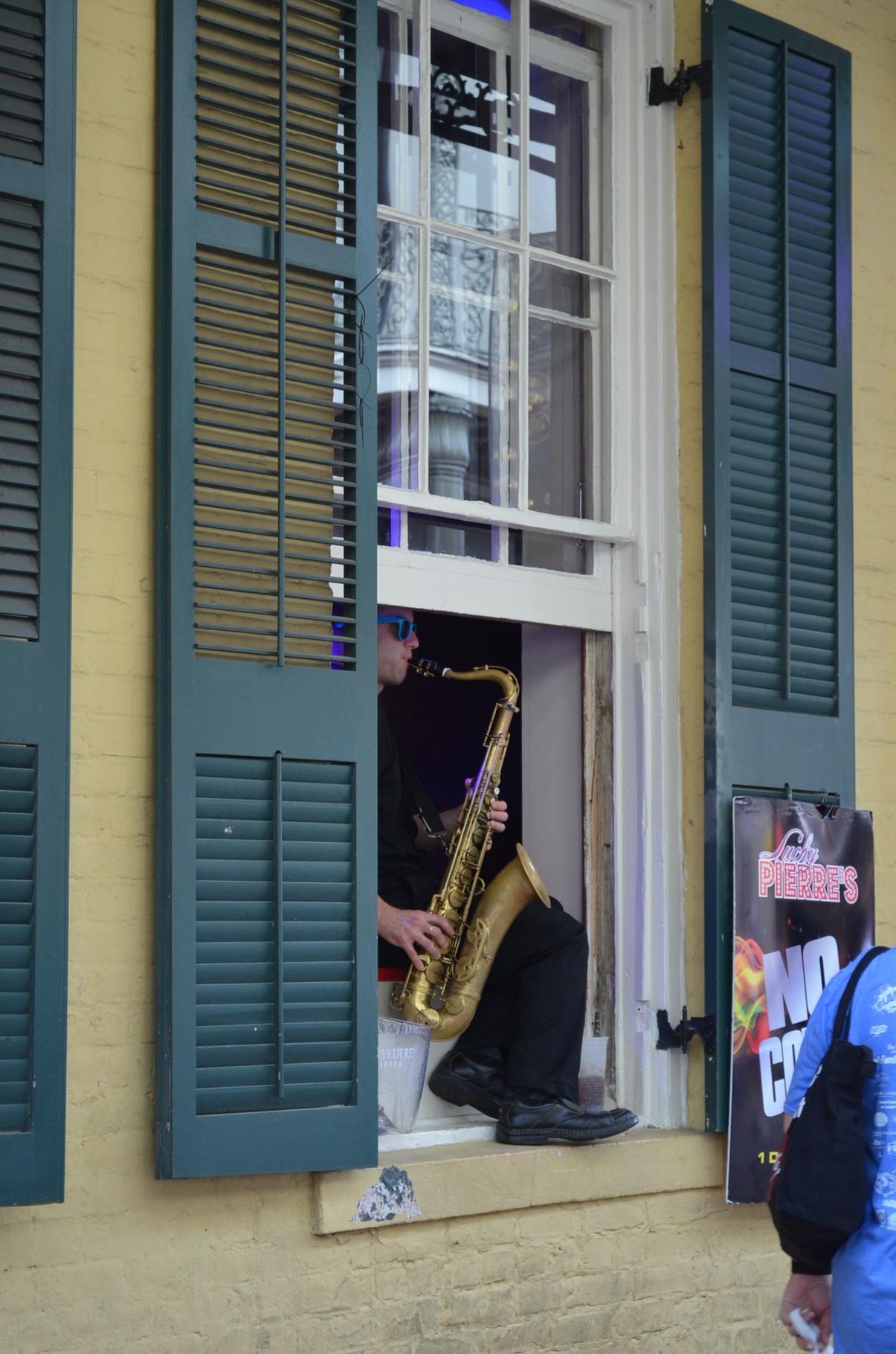 Jazz aus dem Fenster