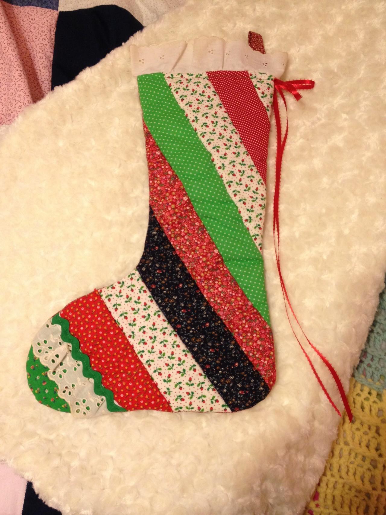 Den Stocking hat mir meine Gastmutter gekauft, der wird an Weihnachten von Santa aufgefüllt