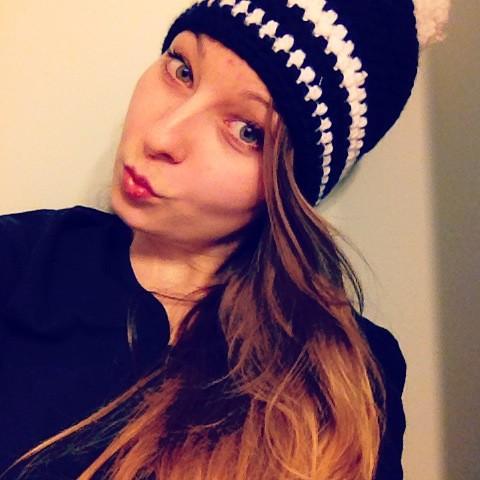 Josi hat mir eine Mütze gehäkelt :-)