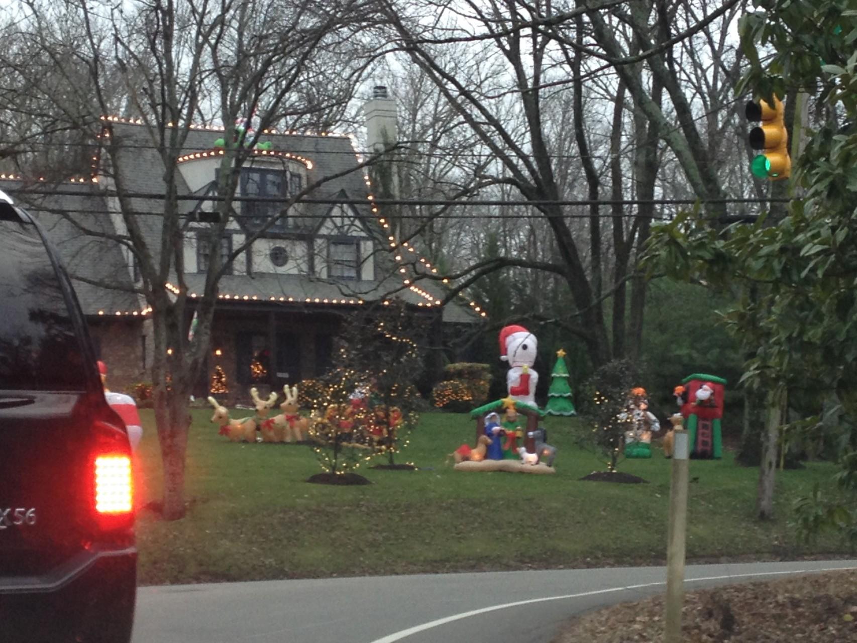 kaum Weihnachtsdekoration und dieser Garten ist ja schon fast 'normal'