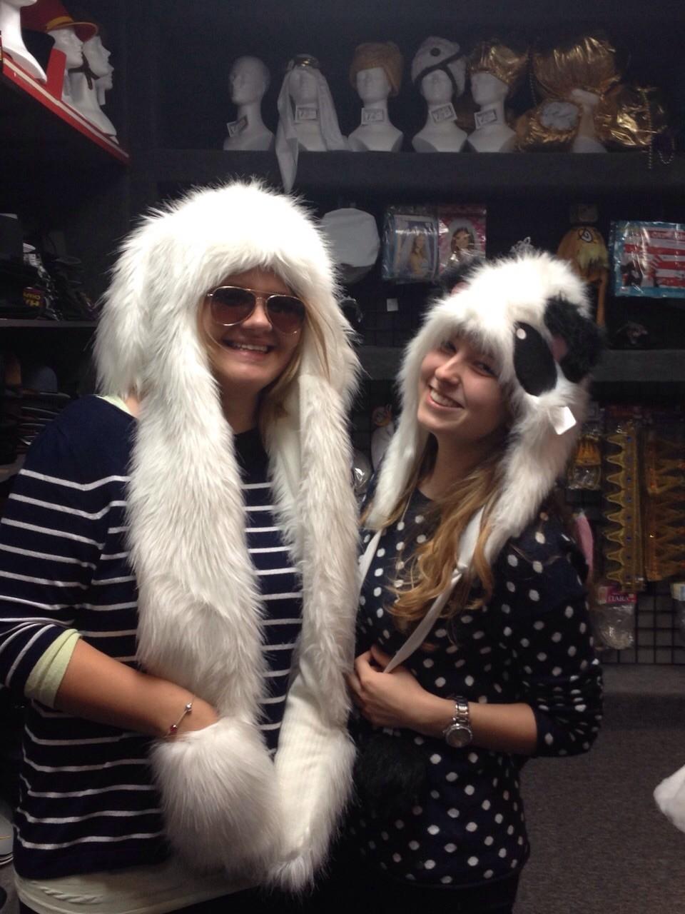 Hasenmütze und Panda mit Josi