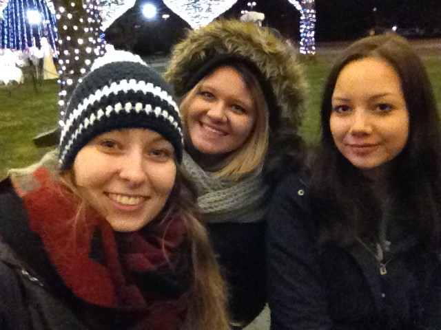 Josi, Samara und ich bei den Lichtern