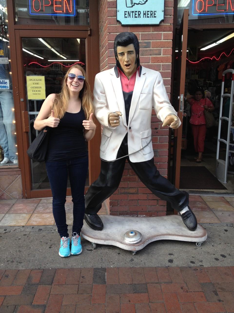 Elvis getroffen