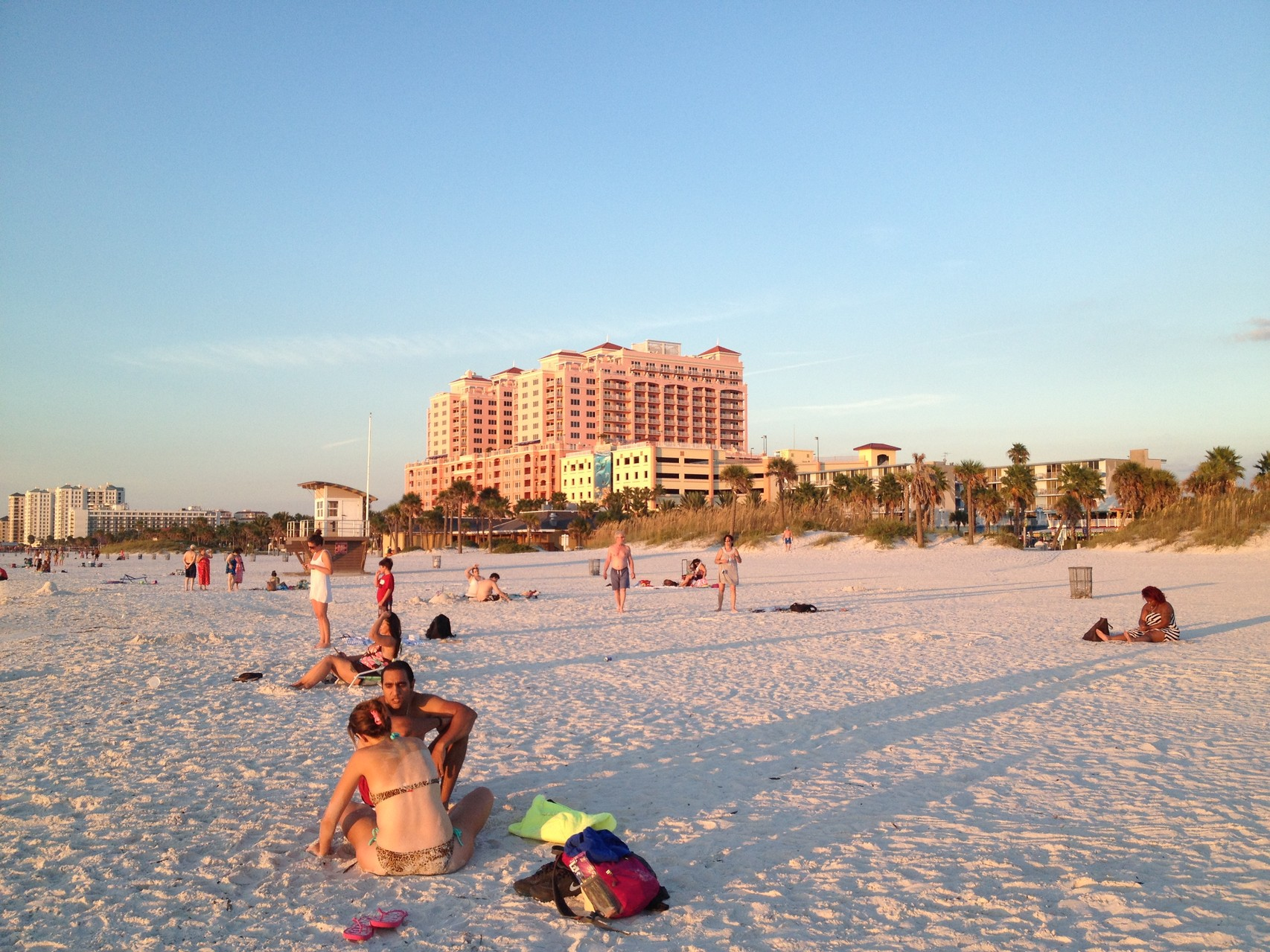Clearwater beach in Tampa, Florida
