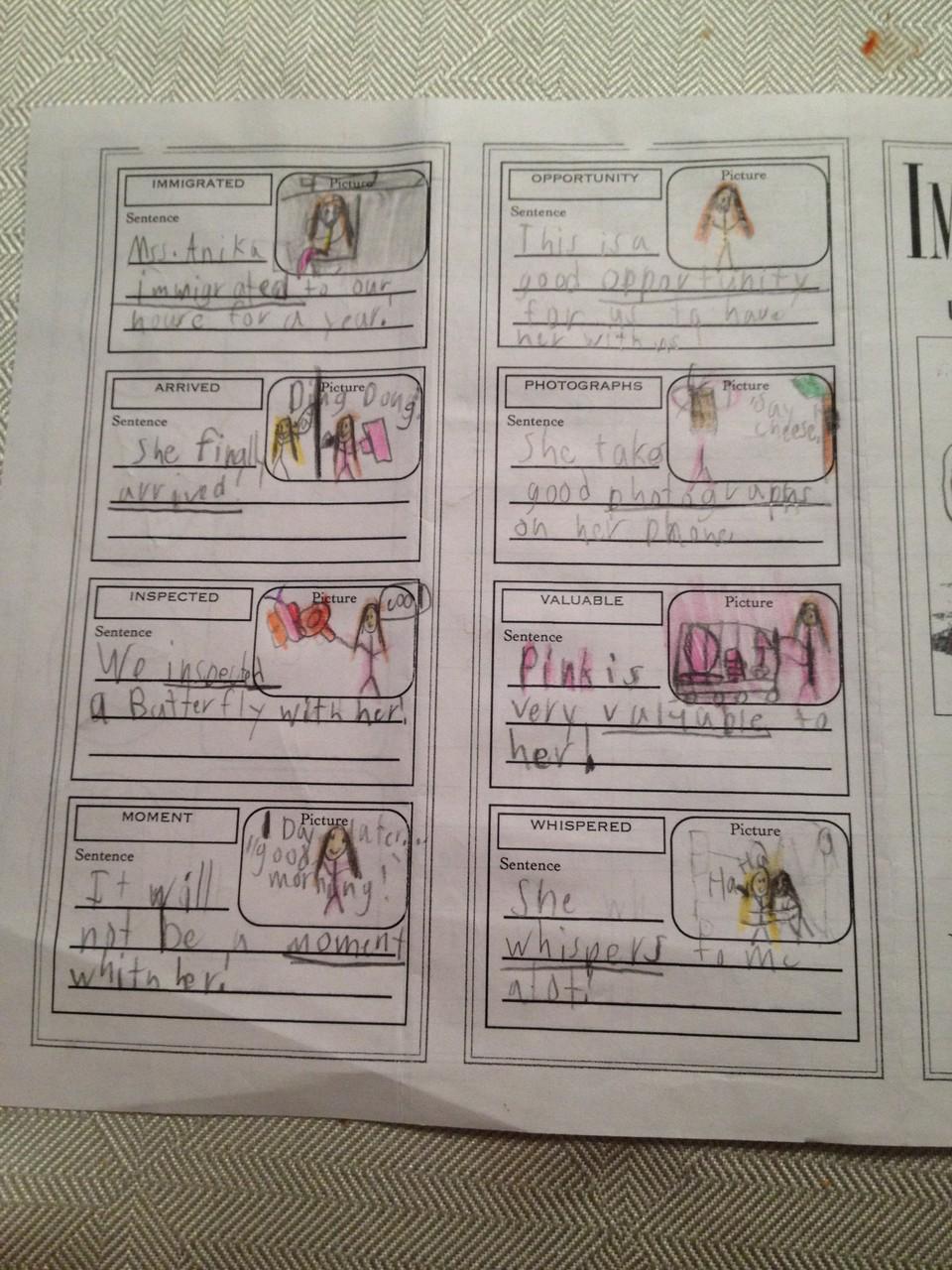 S. hat ihre Hausaufgaben komplett über mich geschrieben :)