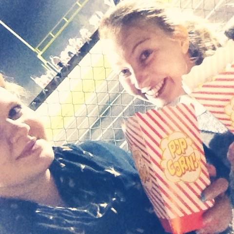 Popcorn beim Footballspiel