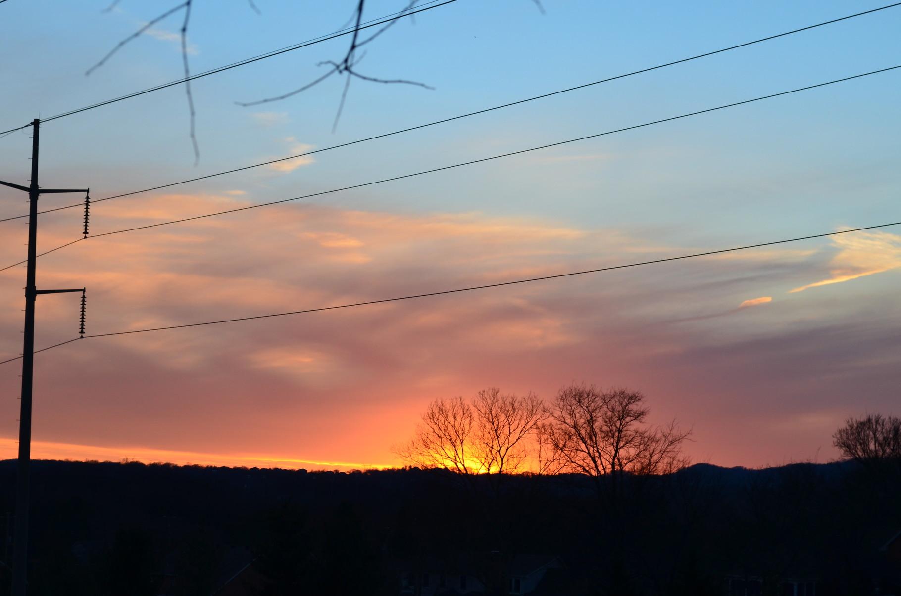 Spielereien mit meiner neuen Kamera - hier Sonnenuntergang