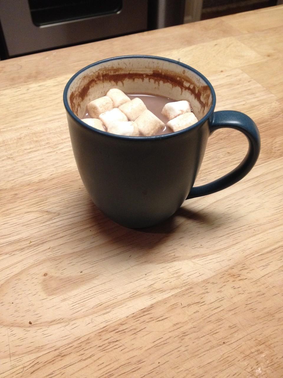 Heiße Schokolade mit Minimarshmallows