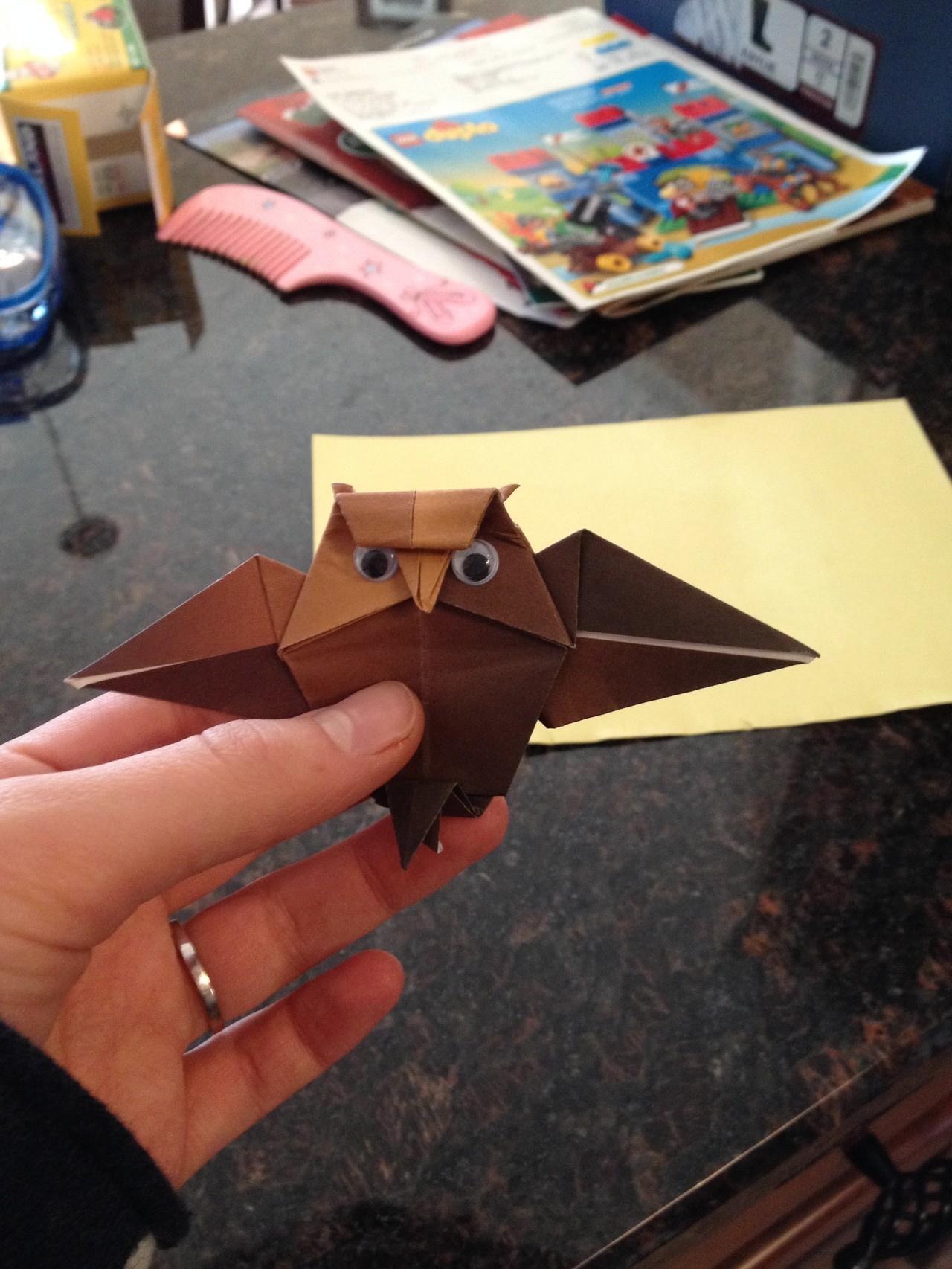 Origami Eule