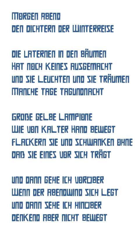 Heidrun Feistner: Morgen Abend / Den Dichtern der Winterreise