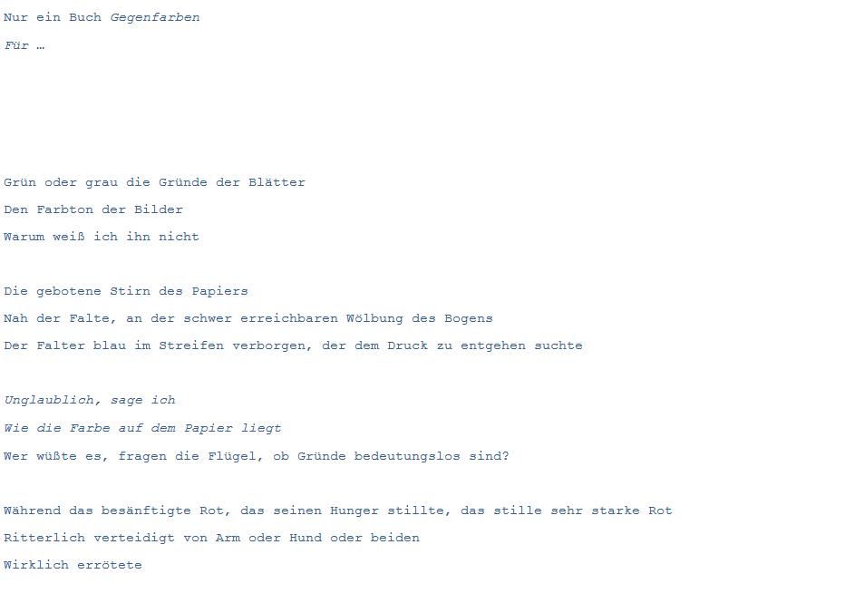 Heidrun Feistner: Gegenfarben / Für FMF / Bild 1