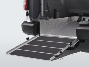 VW Caddy with access ramp.