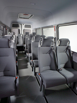 Row of seats in AMF-Bruns Smartliner.