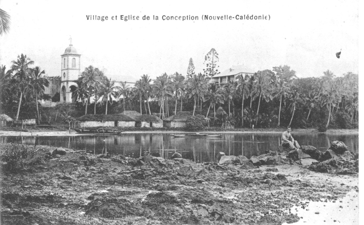La Conception : l'église et le village