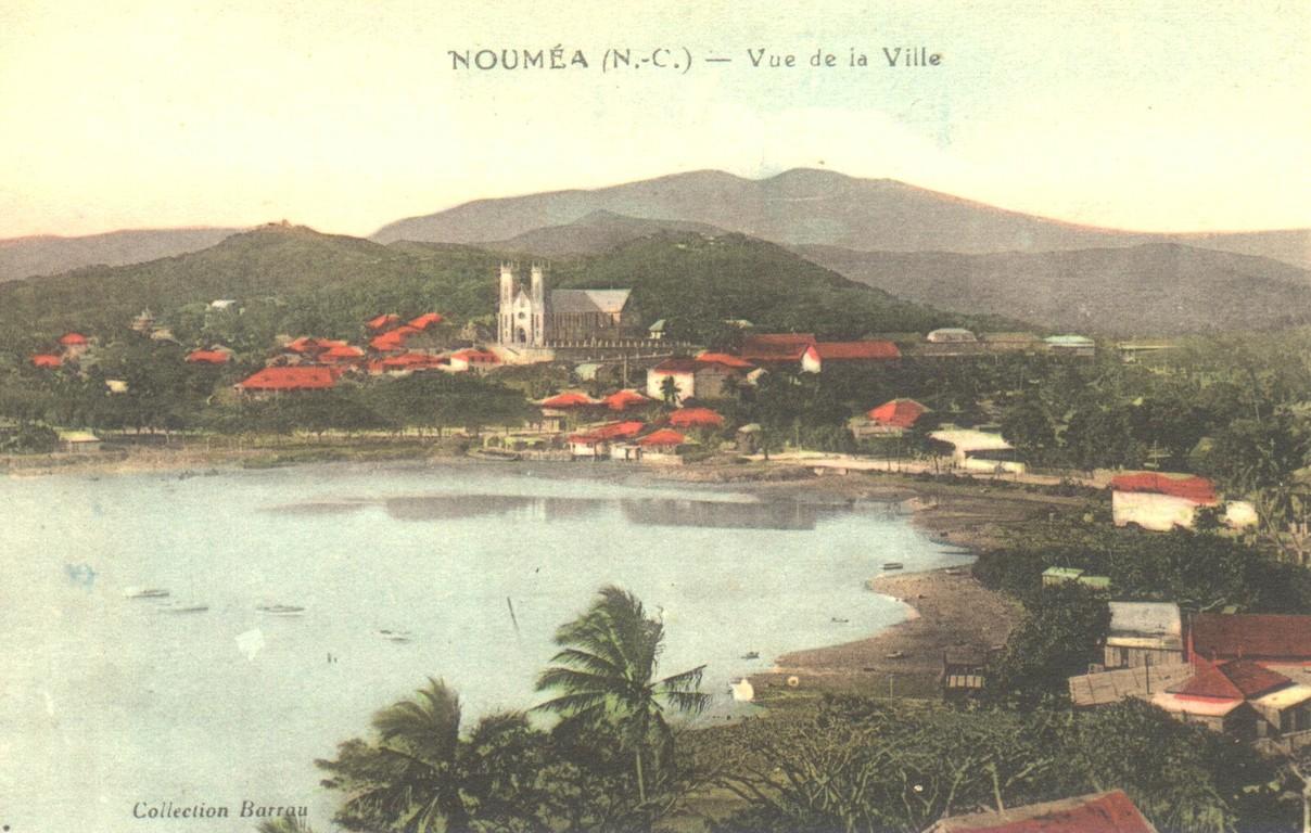 Nouméa : la baie de la Moselle et la cathédrale