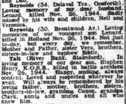 Evening Chronicle 26-11-1945