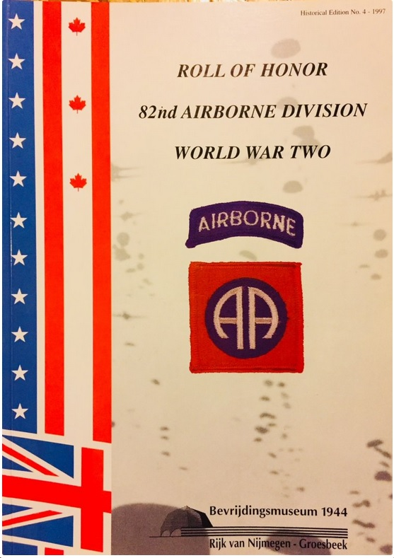Roll of Honour, 82 Airborne Division, 1997 (collection P. Reinders)