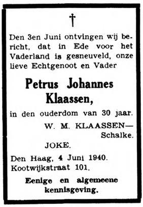 De residentiebode 4-6-1940