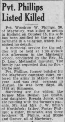Bluefield Daily Telegraph 19-11-1944